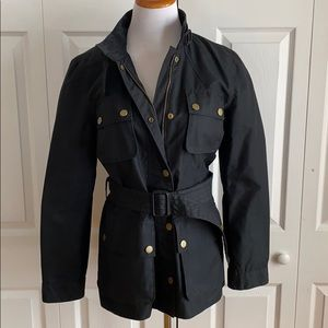Banana Republic Black Belted Jacket with Front Pockets Size 12P